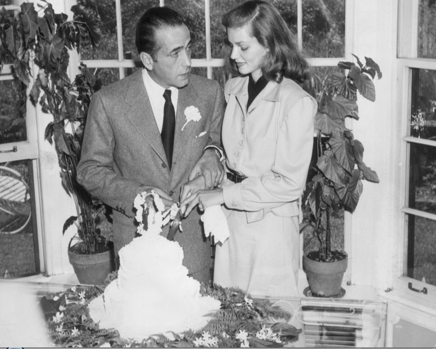 Humphrey-Bogart-and-Lauren-Bacall-on-their-wedding-day-May-21-1945